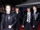 Westlife Band Arrive at NRJ Music Awards in Cannes, France, January 2002 Photographic Print