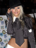 Christina Aguilera erscheint bei den MTV European Music Awards in Barcelona, November 2002 Fotografie-Druck
