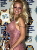 Pamela Anderson, Arriving at the MTV European Music Awards 2002, Barcelona Photographic Print