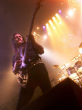 Lemmy from Motorhead Takes to the Stage at Motorhead Concert at Ulster Hall in Belfast, May 2001 Fotografisk tryk