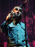 Liam Gallagher Performing on Stage at the Gig on the Green at Glasgow Green, August 2000 Photographic Print