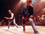 Francis Rossi and Rick Parfitt, Status Quo on Stage at the Clyde Auditorium, October 1999 Stampa fotografica