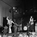 Rolling Stones Playing Live on Stage Fotografisk tryk