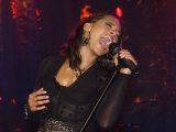 Singer Alicia Keys Performing at the Princes Urban Trust Music Festival, May 2004 Fotografisk tryk