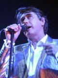 Brian Ferry, Singer with the Band, Roxy Music, Start Their World Tour in Glasgow, June 2001 Lámina fotográfica