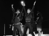 Andrew Ridgeley and George Michael of Wham, at Farewell Concert, 1986 Reproduction photographique