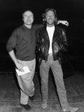 Eric Clapton with Phil Collins Before the Concert at the Royal Albert Hall Photographic Print