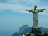 Christ the Redeemer on Corcovado Mountain, Rio De Janeiro, November 2004 Fotografisk tryk