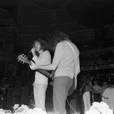Robert Plant of Led Zeppelin in Concert Fotografisk tryk