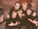 Pop Group Westlife in Dublin, March 1999 Photographic Print