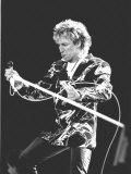 Veteran Rocker Rod Stewart Went Down a Storn at Wembley Stadium on 15 July 1986 Fotografisk tryk
