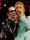 Annie Lennox & David Bowie Singing at Freddy Mercury's Wembley Aids Concert Photographic Print