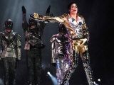 US Pop Megastar Michael Jackson at Concert at Letna Plain in the Czech Capital Prague, 1996 Fotografisk tryk