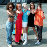 The Spice Girls, Help to Launch the New Channel Five at Marble Arch in London Today Fotografie-Druck