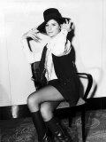 Barbra Streisand in London for the Premiere of Her Film Funny Girl Fotografisk tryk