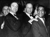 Jack Lemmon with Singers Frank Sinatra and Sammy Davis Junior, 1968 Fotografisk tryk