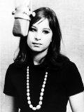 Barbra Streisand Aged 21 Making Her First Record Fotografisk tryk