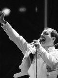Queen Rock Group, Freddie Mercury, Queen in Concert at Wembley Stadium, London Fotografisk trykk