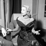 Grace Kelly During Interview with Daily Mirror Reporter Donald Zec at the 1955 Cannes Film Festival Fotografisk trykk