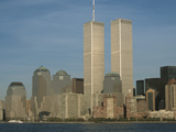 New York City and the World Trade Center Reproduction photographique