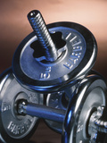 Steel Dumbbells for Workout Photographic Print