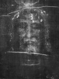 Part of the First Photograph of the Shroud Showing the Face Fotografisk trykk