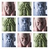Hear No Evil, See No Evil, Speak No Evil Fotografie-Druck