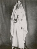 T E Lawrence (Lawrence of Arabia) Full-Length Photograph in Arab Dress Fotografisk trykk