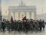 Left Wing Demonstrations That Lead to Ebert Forming the Weimar Republic Photographic Print