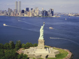 The Statue of Liberty and the New York Skyline Fotografie-Druck