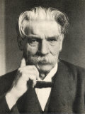 Albert Schweitzer French Theologian Philosopher Missionary Physician and Music Scholar Fotografisk trykk