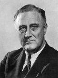 Franklin Delano Roosevelt 32nd President of the USA in the Year of His Election Lámina fotográfica