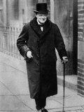 Winston Churchill British Statesman Lámina fotográfica