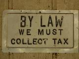 Tax Sign Photographic Print