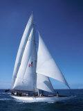 Sailboat on Sea Photographic Print