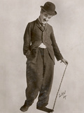 Charlie Chaplin (Sir Charles Spencer) English Comedian and Actor Lámina fotográfica