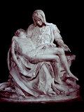 Cast of Michelangelo's 'Pieta'. the Original is in Saint Peter's in the Vatican Fotografisk tryk