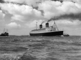 """The """"Queen Elizabeth"""" the Largest of the P Photographic Print"""