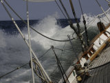 Sailboat in Rough Water, Ticonderoga Race Reproduction photographique par Michael Brown