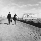 Toward Los Angeles, California Foto von Dorothea Lange