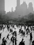 Iceskating in New York Fotografisk tryk