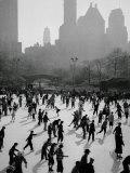 Iceskating in New York Photographic Print
