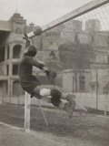 Goalie of the Genova Soccer Team During a Play Reproduction photographique