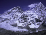 Khumbu Ice Fall Landscape at Everest, Nepal Reproduction photographique par Michael Brown