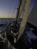 Sailing at Sunset, Ticonderoga Race Reproduction photographique par Michael Brown