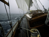 Sailing in Stormy Weather, Ticondergoa Race Photographic Print by Michael Brown