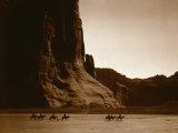 Canyon de Chelly, Navajo Foto av Edward S. Curtis