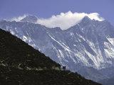 Trekking to Everest Base Camp, Nepal Fotografie-Druck von Michael Brown