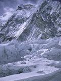 Khumbu Ice Fall, Everest, Nepal Reproduction photographique par Michael Brown