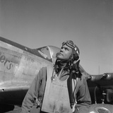 Col. Benjamin O. Davis, Air Base at Rametti, Italy, 1945 Fotografia por Toni Frissell
